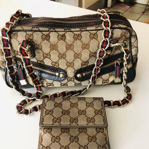 Gucci vintage bag and wallet bundle